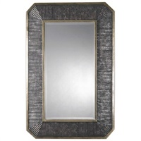 Isaiah Ribbed Bronze Mirror