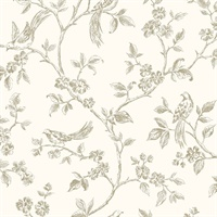 Jeanie Taupe Tree Wallpaper