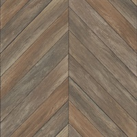 Parisian Chocolate Parquet Wallpaper