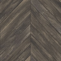 Parisian Dark Brown Parquet Wallpaper