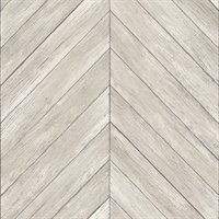 Parisian Light Grey Parquet Wallpaper