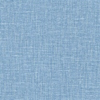 Jocelyn Blue Faux Linen Wallpaper