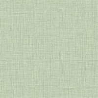 Jocelyn Light Green Faux Linen Wallpaper