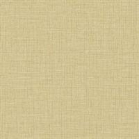 Jocelyn Yellow Faux Linen Wallpaper