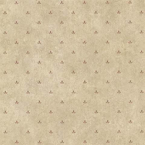 Burgundy Josie Paw Print Texture Wallpaper