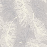 Journey Lavender Feather Wallpaper
