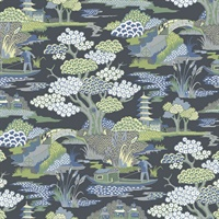 Joy De Vie Indigo Toile Wallpaper