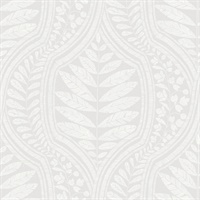 Juno Light Grey Ogee Wallpaper