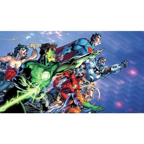 Justice League TM Pre-Pasted Mural