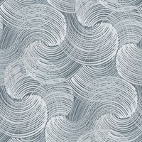 Karson Blue Swirling Geometric Wallpaper