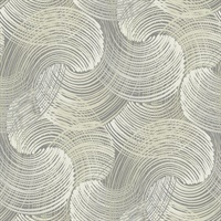 Karson Grey Swirling Geometric Wallpaper