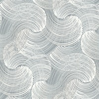 Karson Slate Swirling Geometric Wallpaper