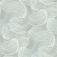 Karson Teal Swirling Geometric Wallpaper