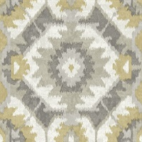 Kazac Grey Shibori Wallpaper
