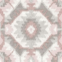 Kazac Light Pink Shibori Wallpaper