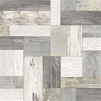 Knock on Wood Neutral Distressed Wallpaper