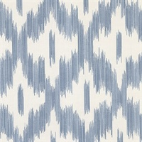 Keller Blue Ogee Wallpaper