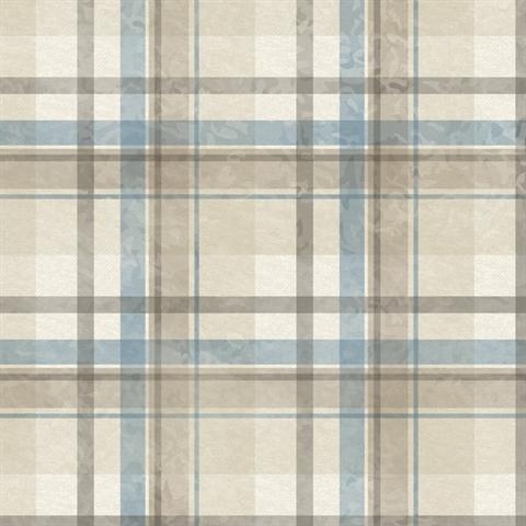 Tot47311 Grey Blue And Brown Kids Place Plaid