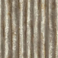 Kirkland Rust Corrugated Metal Wallpaper