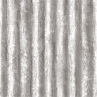 Kirkland Silver Corrugated Metal Wallpaper
