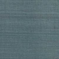 Laem Teal Grasscloth Wallpaper