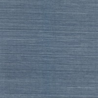 Lamphu Blue Grasscloth Wallpaper
