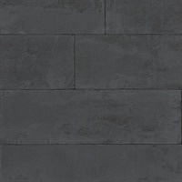 Lanier Black Stone Plank Wallpaper