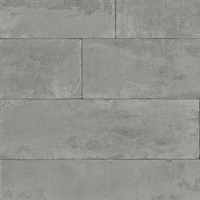 Lanier Grey Stone Plank Wallpaper
