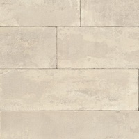 Lanier Neutral Stone Plank Wallpaper