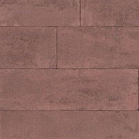 Lanier Oxblood Stone Plank Wallpaper