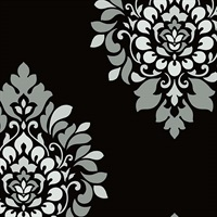 Medallion Damask Wallpaper