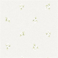 Laurel Spot Wallpaper Greens & Greys