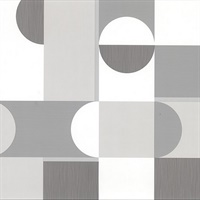 Laurence Grey Geometric Wallpaper