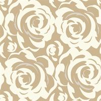 White on Gold Candice Olson Lavish Wallpaper