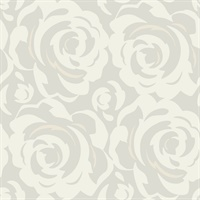 White on Pearl Candice Olson Lavish Wallpaper