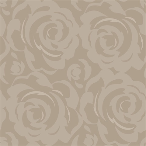 Taupe Candice Olson Lavish Wallpaper