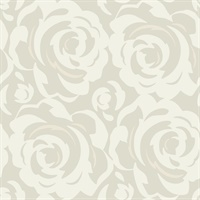 White on Grey Candice Olson Lavish Wallpaper