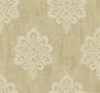 Leafy Damask Wallpaper