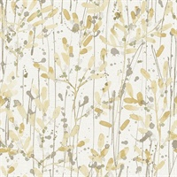 Leandra Yellow Floral Trail Wallpaper