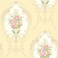 Liana Yellow Cameo Wallpaper