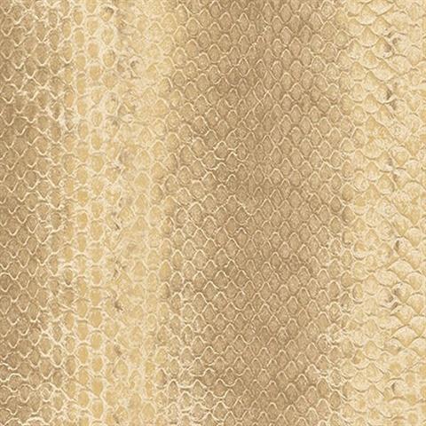 G67425 Cream Snakeskin Print Wallpaper Total Wallcovering
