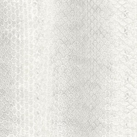Light Grey Snake Skin Wallpaper