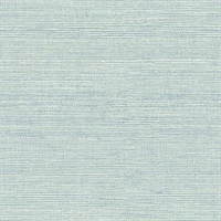 Lilt Teal Faux Grasscloth Wallpaper