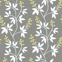 Linnea Elsa Taupe Botanical Trail Wallpaper