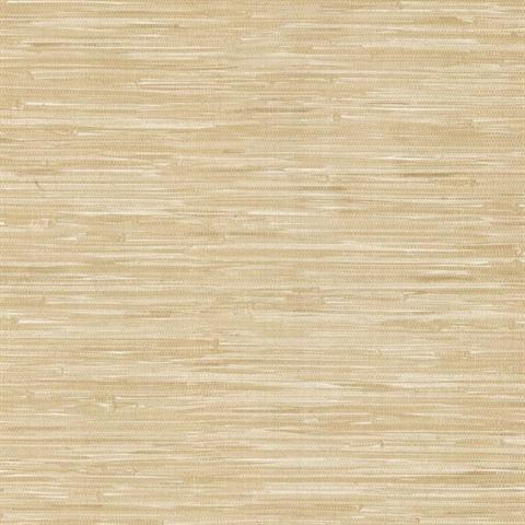 499 44143 Beige Liu Vinyl Grasscloth Wallpaper