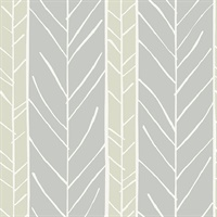 Lottie Grey Stripe Wallpaper
