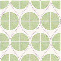Luminary Green Ogee Wallpaper