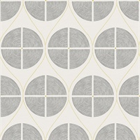 Luminary Grey Ogee Wallpaper