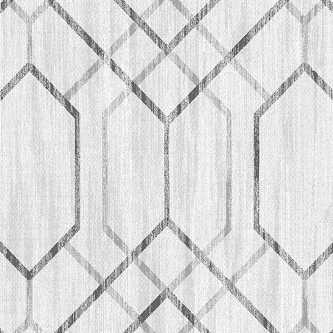 Lyla Off-White Trellis Wallpaper