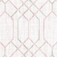 Lyla Pink Trellis Wallpaper